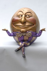 """Big Guy"" Humpty Dumpty, by featured artist Kimber Fiebiger."