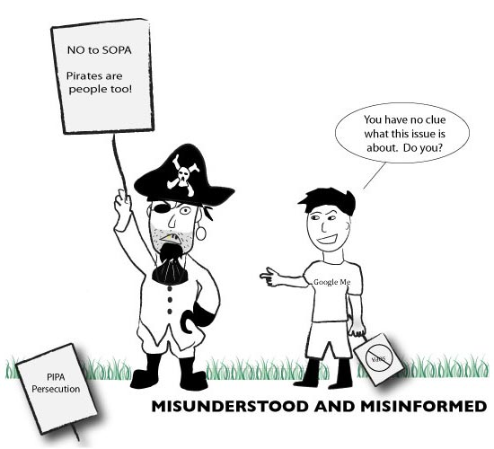 Editorial cartoon, Feb. 6, 2012, &quot;Misunderstood and Misinformed&quot;