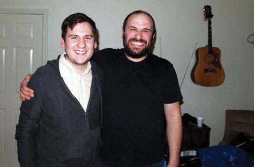 From Left: The Signal Reporter Joshua Ojeda And Singer/songwriter David  Bazan. Photo Part 98