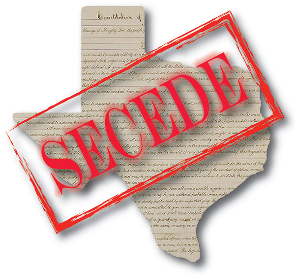 Texas secede from United States