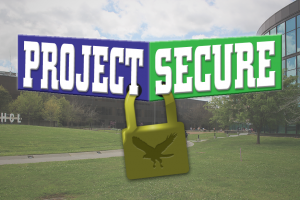 Project Secure logo and photo illustration by The Signal reporter Leah Won