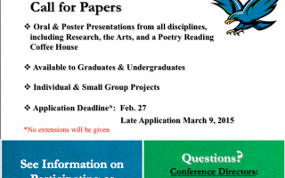 Student Conference for Research and Creative Arts Flyer
