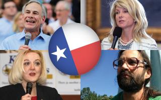 Texas candidates Greg Abbot, Wendy Davis, Kathie Glass and Brandon Parmer.
