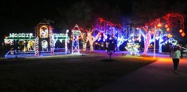 Moody Gardens Festival of Lights.