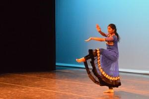 Kukkala Deepthi performing Kuchupudi a traditional Indian dance.