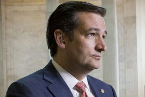 Sen. Ted Cruz, R-Texas, stands for a TV news interview on Capitol Hill in Washington, Monday, May 6, 2013.