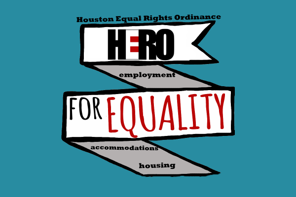 Graphic: Houston Equal Rights Ordinance ribbon. Graphic created by The Signal reporter Allie Smith