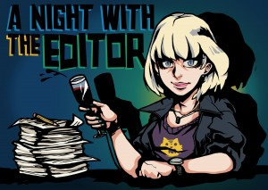 Graphic: A night with the editor blog series. Graphic created by The Signal Managing Editor Dave Silverio.