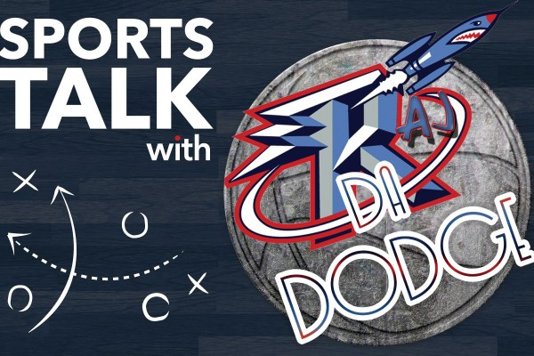Graphic: Logo for the Sports Talk with Raj da Dodge blog series. Graphic created by The Signal Managing Editor Dave Silverio.