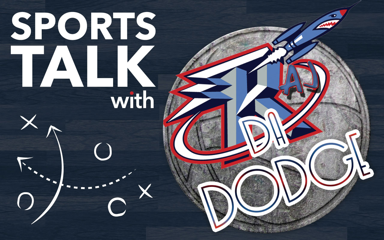 Logo for the Sports Talk with Raj da Dodge blog series. Graphic created by The Signal Managing Editor Dave Silverio.