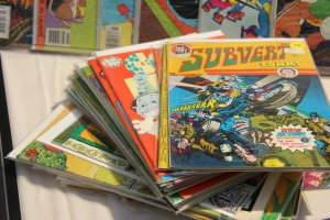 Photo: Comic books displayed at ComiCulture at UHCL. Photo by The Signal reporter Berenice Webster.