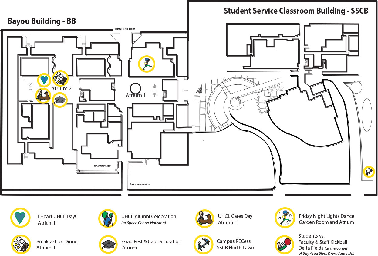 Uh Clear Lake Campus Map.Uh Clear Lake Campus Map Map North East