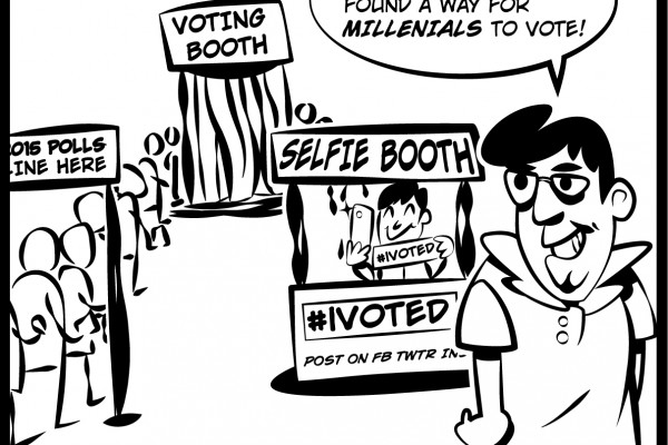 Editorial cartoon: Editorial cartoon about lack of voter turnout at elections. Cartoon by The Signal Managing Editor Dave Silverio.