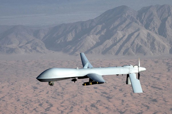 PHOTO: A predator drone flying over desert. Photo courtesy of Wikimedia.
