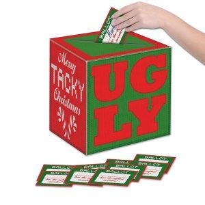 Ugly sweater ballot box