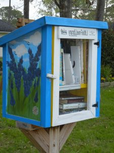 Photo: Example of micro library. This is a Little Free Library</a> located in Friendswood, TX. Photo credit: Robin Timme.