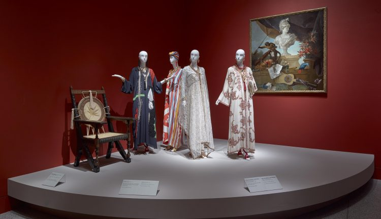 PHOTO: Installation view of the Glamour and Romance of Oscar de la Renta at the MFAH. Photo courtesy of Thomas R. DuBrock.