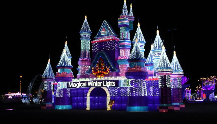 PHOTO: The entrance to Magical Winter Lights display in La Marque, TX. Photo by The Signal reporter Bianca Salazar.
