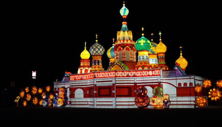 PHOTO: St. Basil's Cathedral in Moscow displayed brightly at the Landmarks of the World attraction. Photo by The Signal reporter Bianca Salazar.