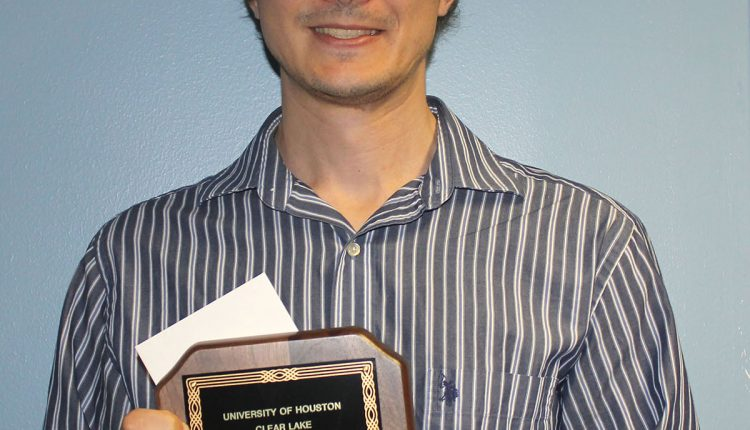 PHOTO: The 2018 UHCL Distinguished Faculty Teaching Award winner is Anton Dubrovskiy, assistant professor of chemistry. Photo by the Signal reporter Nancy Nguyen.